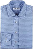 Etro Men's Pixelated-Houndstooth Jacquard Shirt-LIGHT BLUE