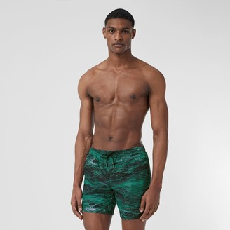 Burberry Sea Print Drawcord Swim Shorts