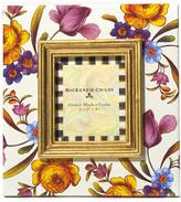"Mackenzie Childs MacKenzie-Childs - Flower Market Enamel Frame - White - 2.5"" x 3"