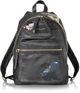 Marc Jacobs Vintage Collage Black Nylon Biker Backpack