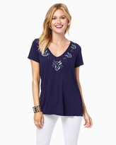 Charming charlie Sequined Easy Tee