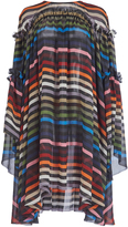 Sonia Rykiel Classic Rykiel Multi Stripe Romantic Dress