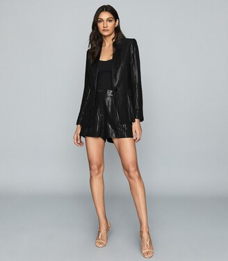 Reiss Briar - Shimmer Blazer in Black