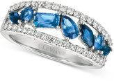 LeVian Le Vian® Sapphire (1 ct. t.w.) and Diamond (3/8 ct. t.w.) Ring in 14k White Gold, Only at Macy's