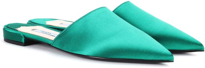 Prada Satin slippers
