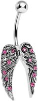 Body Candy Magnificent Angel Wings Belly Ring