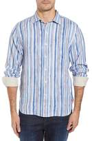 Tommy Bahama Watercrest Stripe Linen Sport Shirt