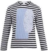 Comme Des GarÇons Shirt Long-sleeved Striped Cotton T-shirt