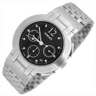 Versace Madison - Men's Stainless Steel Black Dial Chronograph