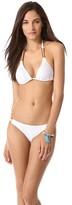 Solid White Triangle Bikini Top