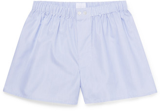 Sunspel Striped Sea Island Cotton-Poplin Boxer Shorts