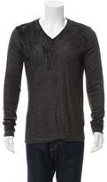 Just Cavalli Embroidered V-Neck Sweater