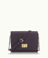 GiGi New York Catie Crossbody Embossed Python