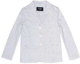 Il Gufo Striped cotton blazer