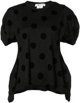 Comme des Garcons polka dots asymmetric T-shirt
