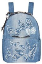 Valentino Denim Butterfly Backpack