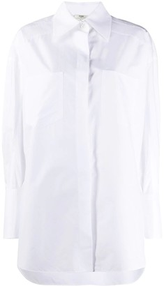 Fendi Over-sized Classic White Shirt
