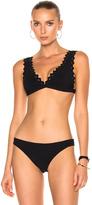 Karla Colletto Reina Bralette Bikini Top in Black.