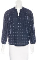 Band Of Outsiders Embroidered Long Sleeve Blouse