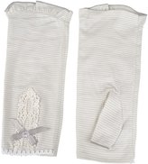 Want Lady Summer Bowknot Decor Sunscreen Breathable Fingerless 100% Cotton Gloves