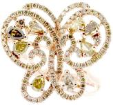 Rarities: Fine Jewelry with Carol Brodie 2.15ctw Multicolor Diamond 14K Rose Gold Butterfly Ring