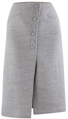 Courreges Wool midi-skirt