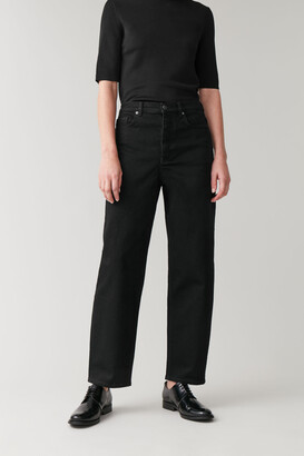 Cos High-Waisted Organic Cotton Tapered Jeans