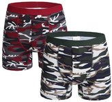Innersy Men's Boxer Pack of 2 Camouflage Printing Boxer Briefs (L, 1)