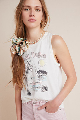 Sol Angeles Saint Tropez Graphic Tank By in White Size S