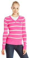 U.S. Polo Assn. Juniors' Striped V-Neck Sweater