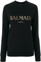 Balmain - logo lettering sweatshirt