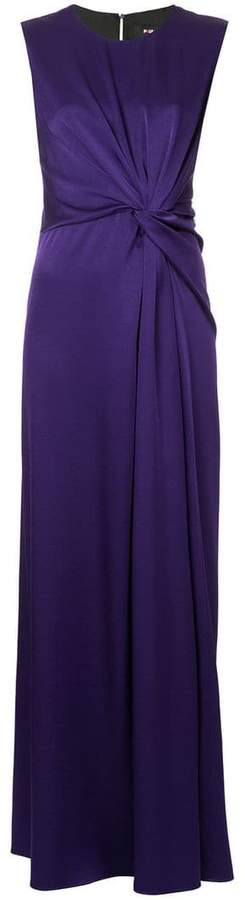 Paule Ka sleeveless tie-front dress