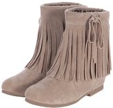 ENMAYER Women's Closed Round Toe Nubuck Increased Internal Solid Boots With Tassel 9 B(M) US