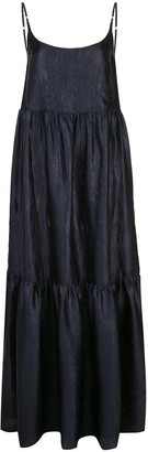 Sies Marjan Brianna crocodile-embossed satin maxi dress