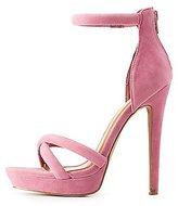 Charlotte Russe Two-Piece Platform Sandals