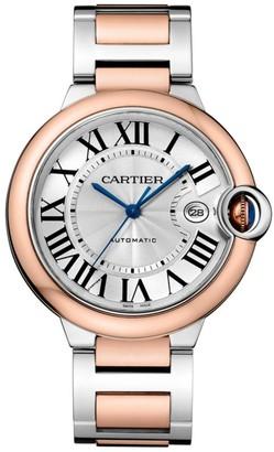 Cartier Ballon Bleu de 18K Rose Gold & Stainless Steel Bracelet Watch/42MM