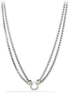 David Yurman Yellow Gold Double Wheat Chain Necklace