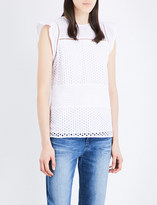 MICHAEL Michael Kors Embroidered eyelet cotton top