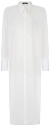 Dolce & Gabbana Cotton Poplin Tunic Shirt Dress