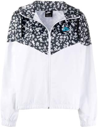 Nike floral-print zipped jacket
