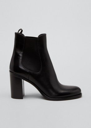 Prada Gored Leather Chelsea Ankle Booties