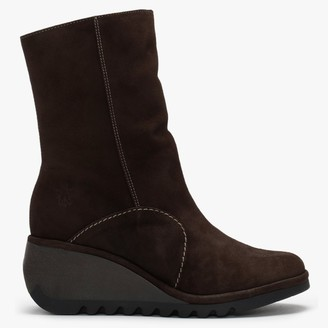 Fly London Nort Ground Suede Wedge Ankle Boots