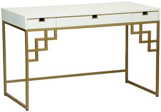Selamat Morgan Desk - Brass/White