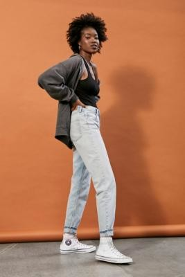BDG Light Vintage-Wash High-Waist Mom Jeans - Blue 24W 30L at Urban Outfitters