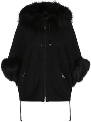 William Sharp Fox-Trim Shearling Jacket