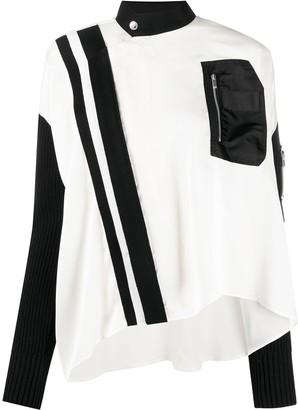 Sacai Asymmetric Zipped Blouse