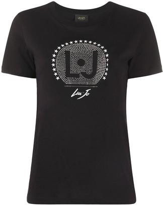Liu Jo rhinestone-logo crew neck T-shirt
