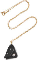 Cvc Stones Giza 18-karat Gold, Stone And Diamond Necklace - one size