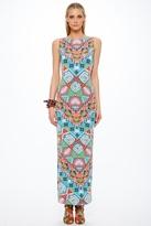 Mara Hoffman Astrodreamer Lattice Back Maxi Dress in Turquoise