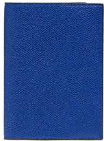Valextra Leather passport holder Royal Blue